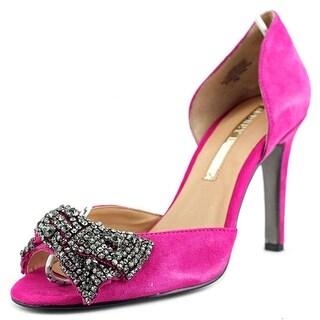 Audrey Brooke Michelle Women  Peep-Toe Suede  Heels