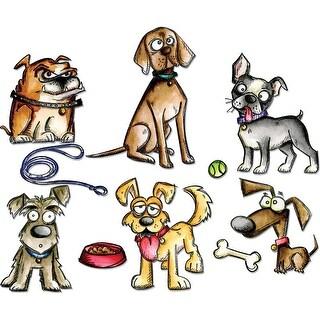 Sizzix Framelits Dies 23/Pkg By Tim Holtz-Crazy Dogs