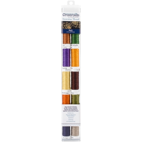 Crossroads Sulky Cotton Petites 12 Weight 10/Pkg-Fall Collection