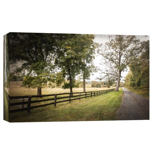 """PTM Images 9-103773 PTM Canvas Collection 8"""" x 10"""" - """"Fosters Fork Road"""" Giclee Roads & Paths Art Print on Canvas"""