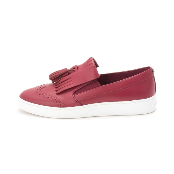 Cole Haan Womens CH2172 Low Top Slip On Fashion Sneakers - Cabernet - 6