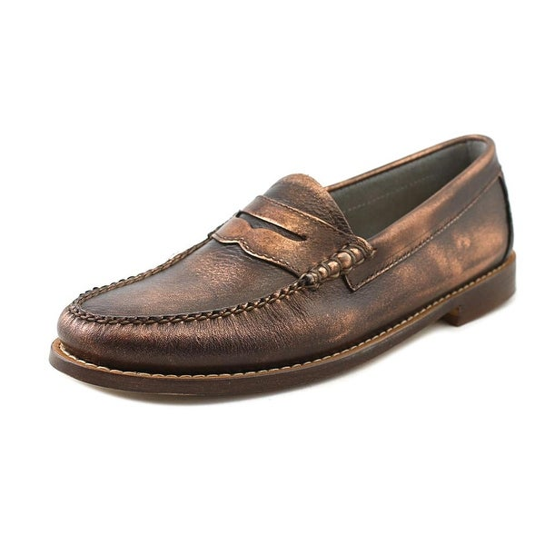 GH Bass & Co Whitney Women Round Toe Leather Bronze Loafer