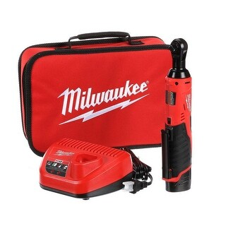 "Milwaukee M12 Cordless 3/8"" Lithium-Ion Ratchet Kit"