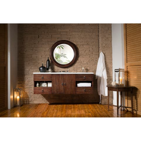 "Sonoma 60"" Single Vanity, Coffee Oak"