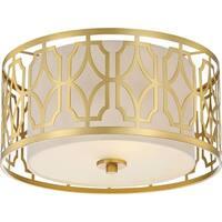 "Nuvo Lighting 60/5931 Filigree 2 Light 15"" Wide Flush Mount Drum Ceiling Fixture"