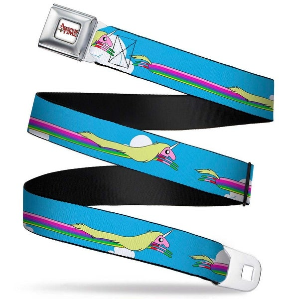 Adventure Time Logo White Full Color Lady Raincorn Stretch Straight Webbing Seatbelt Belt