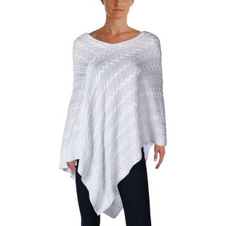 Ralph Lauren Womens Poncho Sweater Wide Neck Sleeveless - o/s
