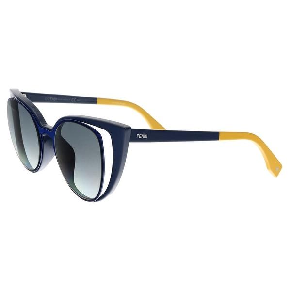 5fac53eab57 Shop FENDI 0136 S 0NY9- JJ Navy Blue Cat eye Sunglasses - 51-20-140 ...
