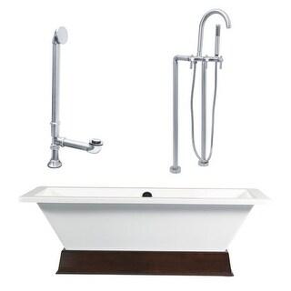 """Giagni LT4 Tella 66"""" Free Standing Soaking Tub Package - Includes Tub, Tub Plint"""