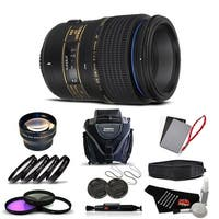 Tamron SP 90mm f/2.8 Di Macro Autofocus Lens for Nikon International Version (No Warranty) Advanced Kit - black