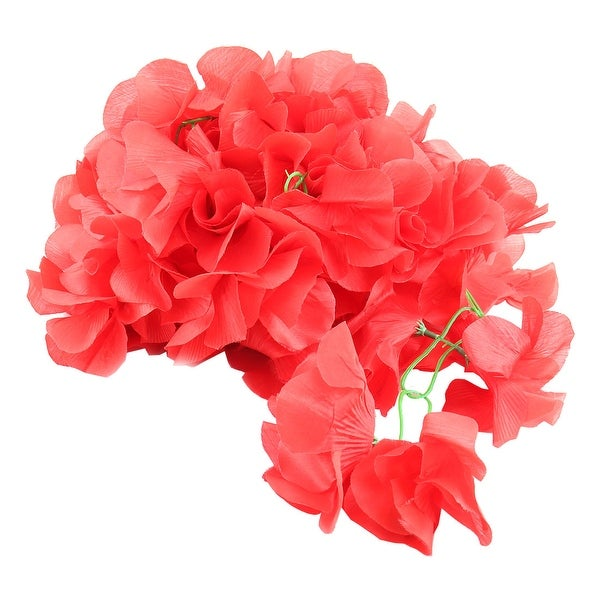 Home Window Hanging Ornament Artificial Flower Decor Vine Red 2.6M Length