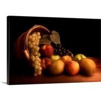 Tom Mc Nemar Premium Thick-Wrap Canvas entitled Basket Of Fruit