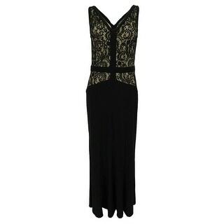 Ralph Lauren Women's Sleeveless Lace V-Neck Dress - Black/Champagne (3 options available)