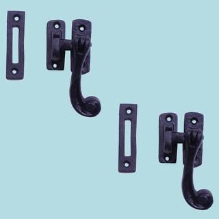 2 Sash Window Door Lock Black Wrought Iron 4 1/2
