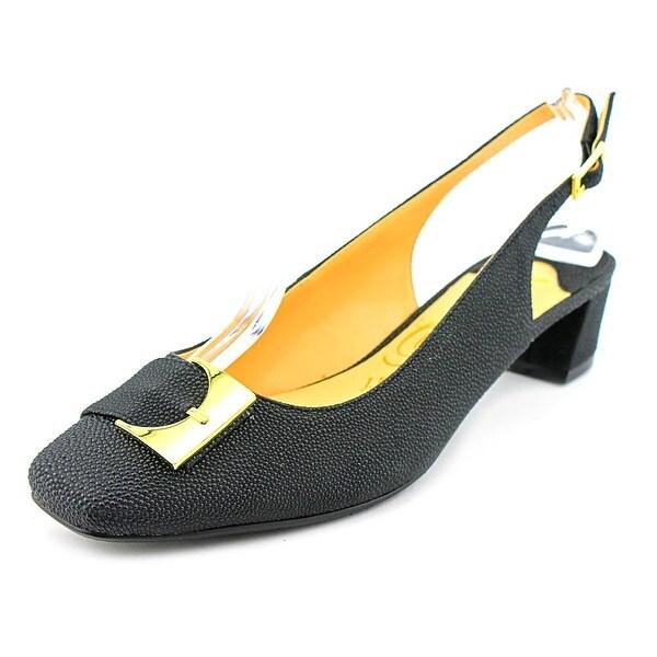 J. Renee Venda Women Open-Toe Leather Slingback Sandal