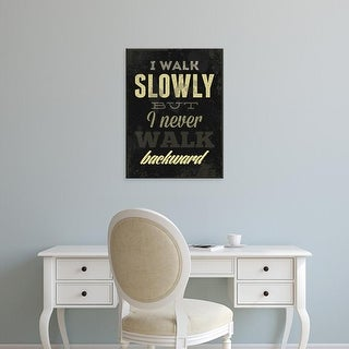 Easy Art Prints GraphINC's 'I Walk Slowly' Premium Canvas Art