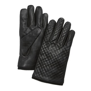 Ryan Seacrest Distinction Mens Leather Gloves Touch Compatible Lined - XL