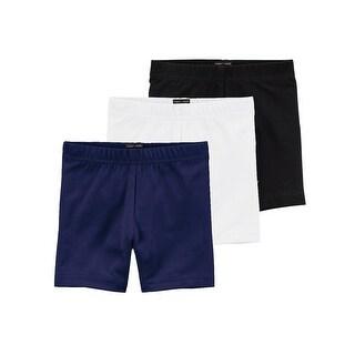 Lori & Jane Girls Black White Navy 3 Pc Shorts