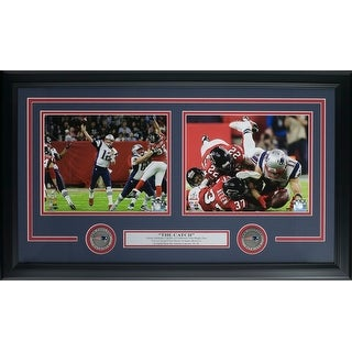 Tom Brady Julian Edelman Framed New England Patriots Super Bowl 51 Catch Collage
