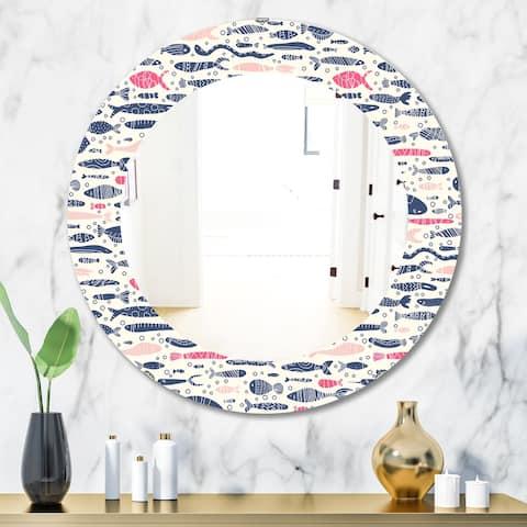 Porch & Den 'Costal Creatures 9' Mirror - Multi