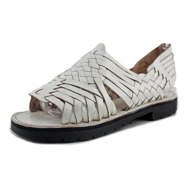 Brand X Pachuco Women Open-Toe Leather White Slingback Sandal
