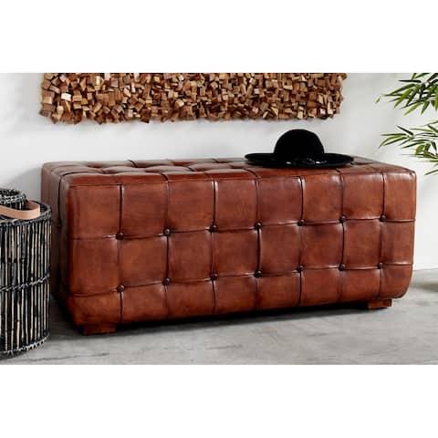 Brown Teak Traditional Bench 20 x 48 x 18 - 48 x 18 x 20