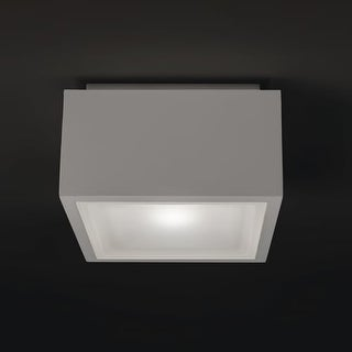 """Modern Forms FM-W9200 Bloc 1 Light 6"""" Wide LED Outdoor Flush Mount Ceiling Fixture - 3.25 Inches Wide"""
