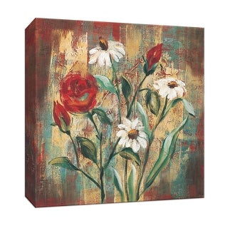 """PTM Images 9-153414  PTM Canvas Collection 12"""" x 12"""" - """"Flowers from the Garden I"""" Giclee Flowers Art Print on Canvas"""