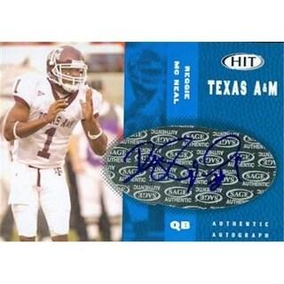 Reggie Mc Neal Autographed Football Card Texas A&M 2006 Sage Hit
