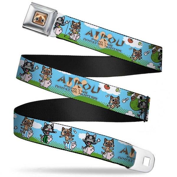 Airou Face Full Color Brown Tan Fade Airou & Merarou Expressions W Poogie Seatbelt Belt