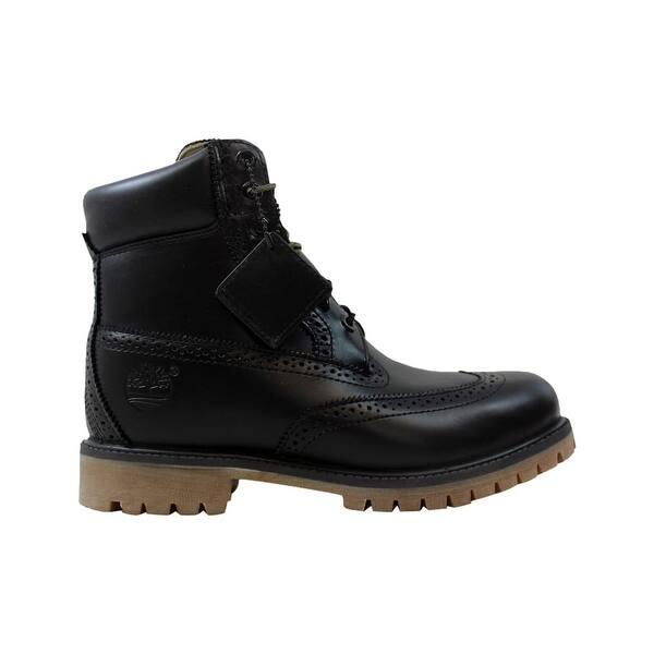 Empotrar Se infla Estructuralmente  Shop Timberland 6 Inch Brogue Boot Black TB0A16XJ Men's - Overstock -  27339903