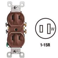 Leviton Brn Duplex Outlet 223CP Unit: EACH Contains 10 per case