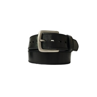 Berne Work Belt Mens Stitch Leather Stitch Antique Nickel 7510500