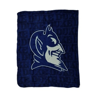 NCAA Duke Blue Devils Micro Raschel Plush Throw Blanket 46 x 60 inch