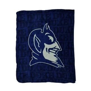 NCAA Duke Blue Devils Micro Raschel Plush Throw Blanket 46 x 60 inch