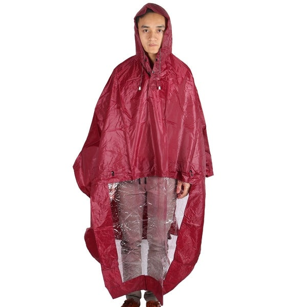 Motorcycle Plastic Cover Water Resistant Dustproof Raincoat Protector Red