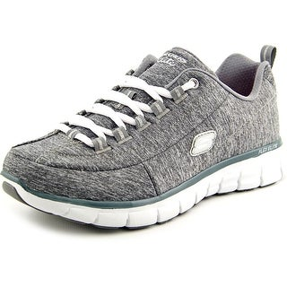 Skechers Synergy Spot On Women Round Toe Canvas Gray Tennis Shoe