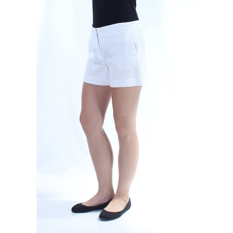 THEORY Womens White Pocketed Short Size 10