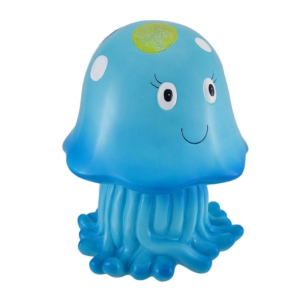 Joyful Blue Jellyfish Whimsical Childrens Coin Bank 10 in.. Opens flyout.