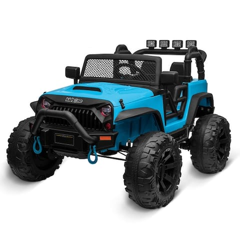 Kidzone Kids 12V Battery Ride On Truck W/ Off Road Wheels, 11 Colors - standard