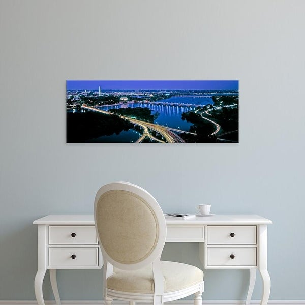 Easy Art Prints Panoramic Images's 'City at dusk, Washington DC, USA' Premium Canvas Art