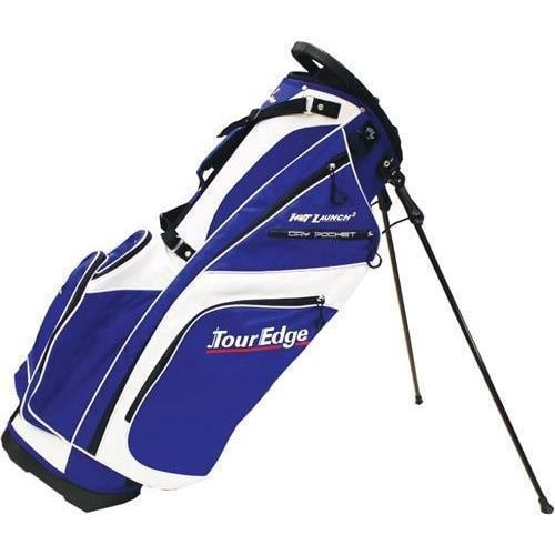 """Tour Edge Hot Launch 2 Golf Std Bag White-Royal Golf Stand Bag"""
