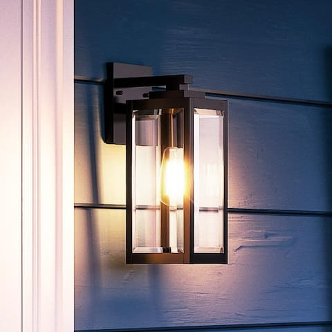 """Luxury Modern Farmhouse Wall Sconce, 14.25H x 5""""W, with Industrial Style, Natural Black, UQL1330 by Urban Ambiance"""
