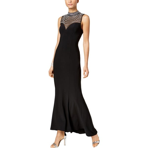 Vince Camuto Womens Evening Dress Mesh Embellished. Opens flyout.
