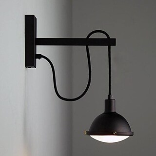 Vintage industrial adjustable black wall sconce