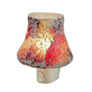 Colorful Mosaic Art Glass Plug In Night Light - Multicolored