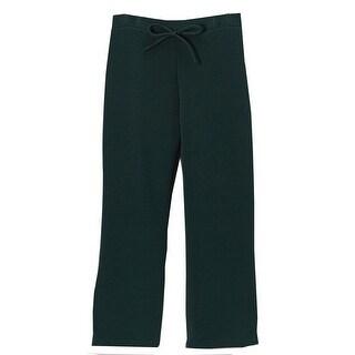 Little Girls Green Bow School Uniform Trouser Pants 4