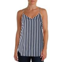 Lauren Ralph Lauren Womens Pullover Top Striped Spaghetti Straps
