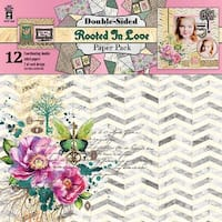 """Rooted In Love - Hot Off The Press Double-Sided Paper Pack 12""""X12"""" 12/Pkg"""