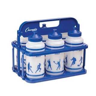 Collapsible Water Bottle Carrier Set, Clear & Blue